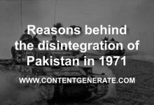 Reasons behind the disintegration of Pakistan in 1971