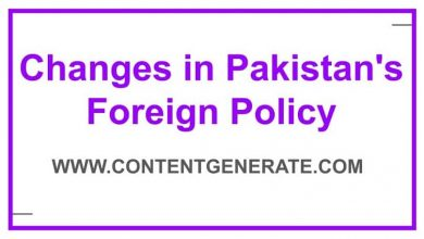 Changes in Pakistan's Foreign Policy at different times