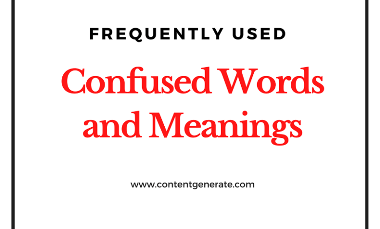 Confused Words