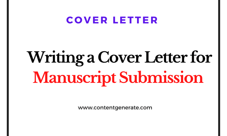 Writing Cover Letter for Manuscript Submission