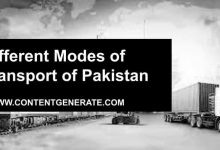 Different Modes of Transport of Pakistan