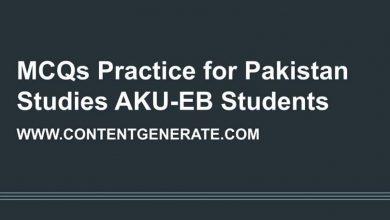 MCQs Practice for Grade 12 Pakistan Studies AKU-EB Students