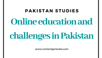 Online education and challenges in Pakistan