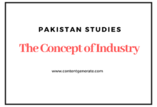 The Concept Of Industry