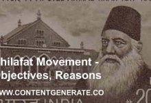 Khilafat Movement - Objectives, Reasons