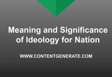 Meaning and Significance of Ideology for Nation