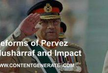 Reforms of Pervez Musharraf and Impact