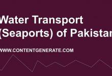 Water Transport (Seaports) of Pakistan