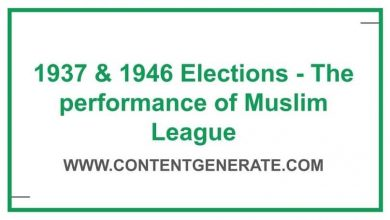 1937 & 1946 Elections - The performance of Muslim League