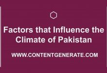 Factors that Influence the Climate of Pakistan