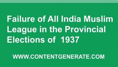 Failure of All India Muslim League in 1937 Elections