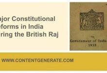 Major Constitutional Reforms in India during the British Raj