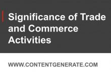 Significance of Trade and Commerce Activities