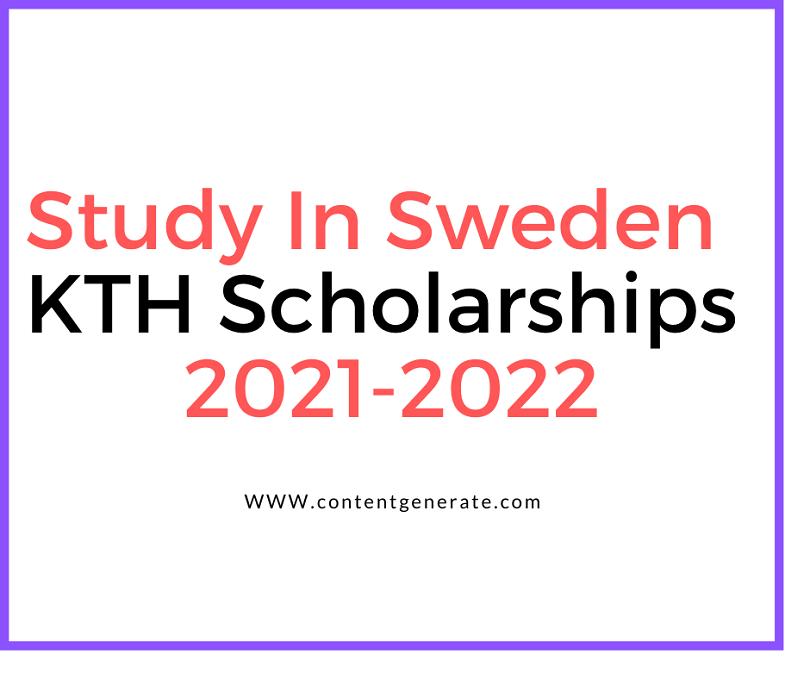 KTH Scholarship-Study in Sweden