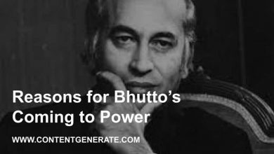 Reasons for Bhutto's Coming to Power