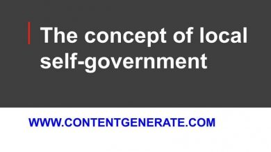 The concept of local self-government