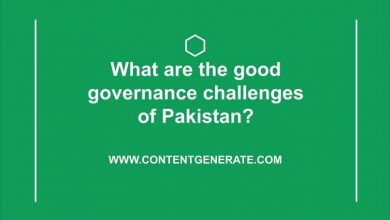 What are the good governance challenges of Pakistan?