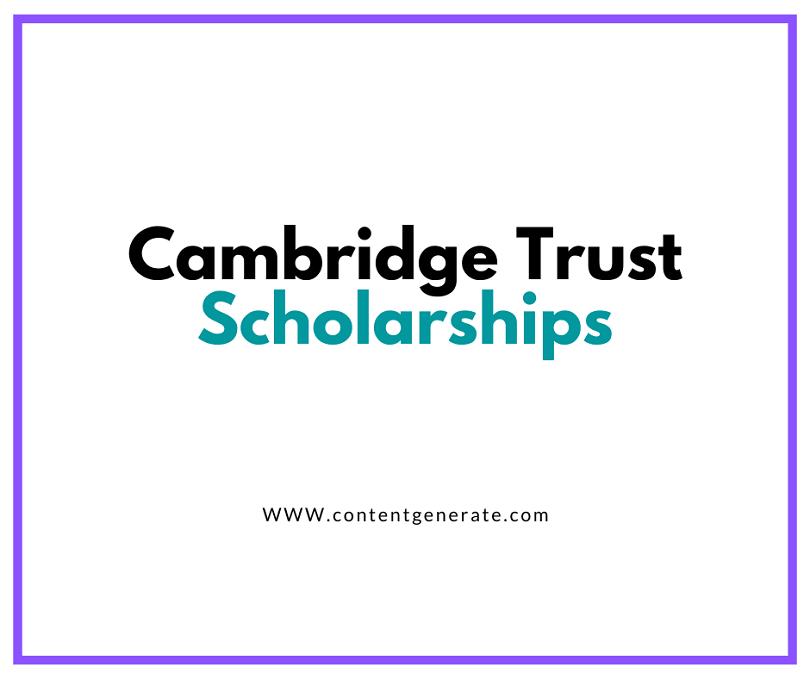 Cambridge Trust Scholarships