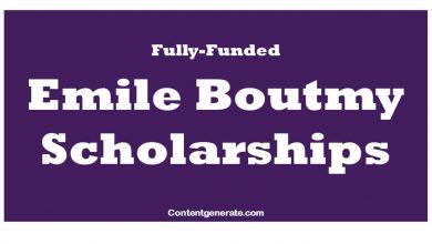 Emile Boutmy Scholarships