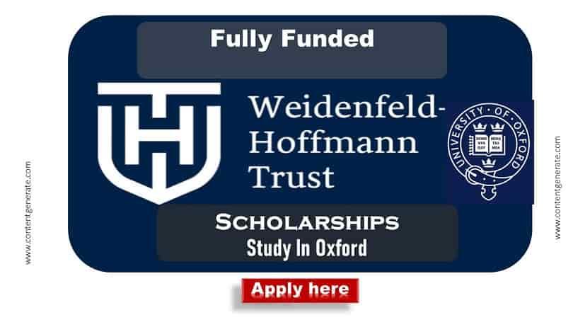 Weidenfeld-Hoffmann Scholarship 2021-2022