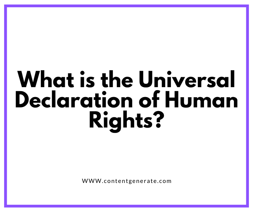 What is the Universal Declaration of Human Rights
