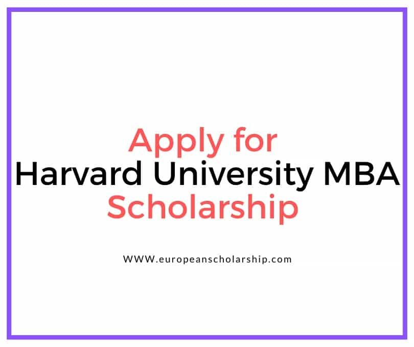 Harvard University MBA (HUM) Scholarship