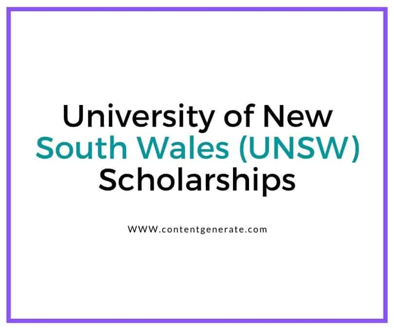 University of New South Wales (UNSW) Scholarships