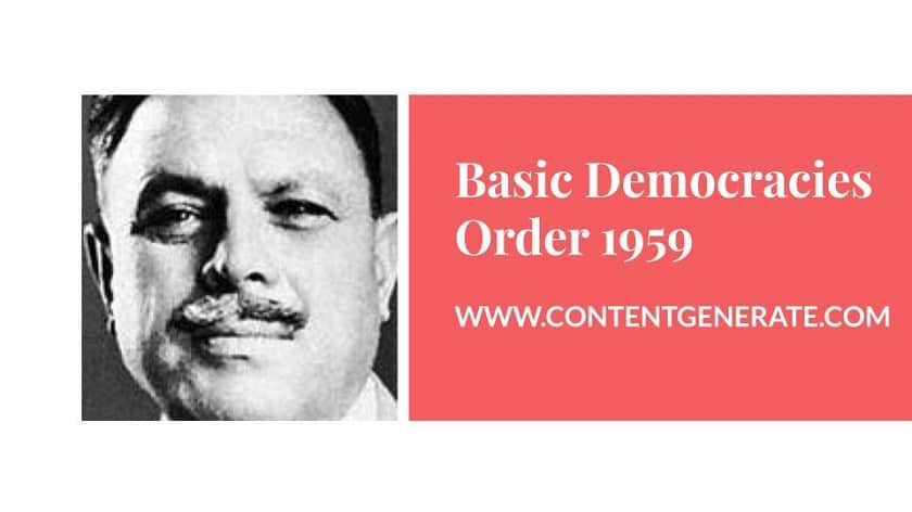 Basic Democracies Order 1959