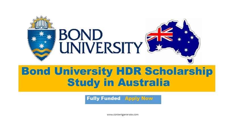 Bond University HDR scholarship