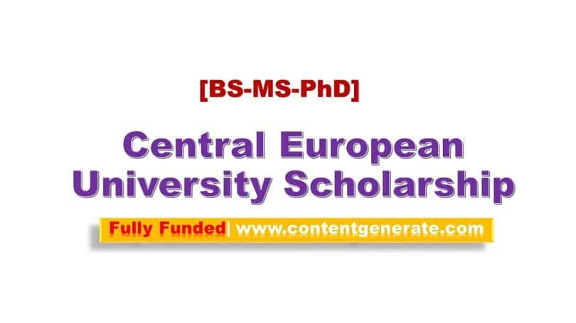 Central European University Scholarship 2021