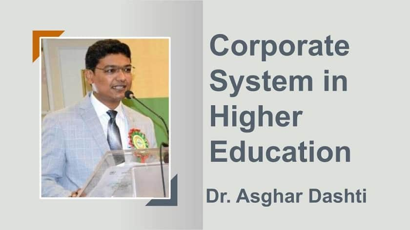 Corporate System in Education