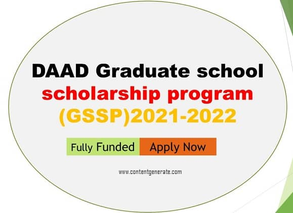 DAAD Graduate school scholarship program (GSSP)-2021-2022 (2)