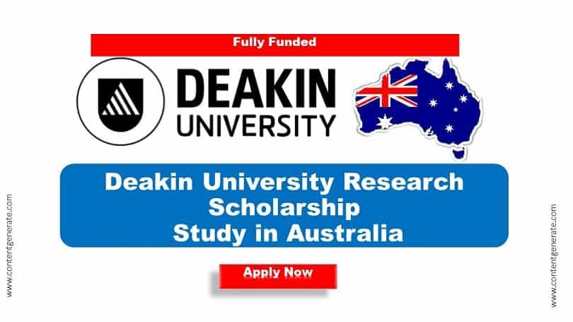 Deakin University Researh Scholarship 2021-2022