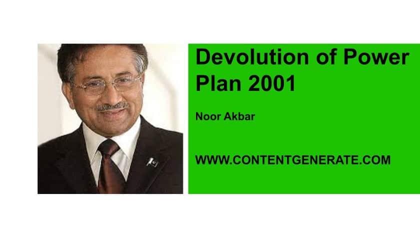 Devolution of Power Plan 2001