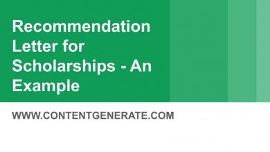 Recommendation Letter for Scholarships - An Example