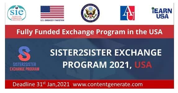 Sister2Sister Exchange program 2021-2022
