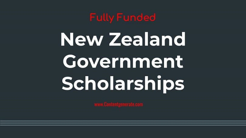 New Zealand Government Scholarships 2021-2022