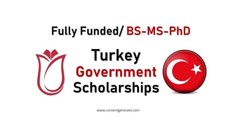 Turkey Govt Scholarships 2021-2022
