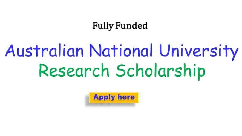Australia National University Research Scholarship