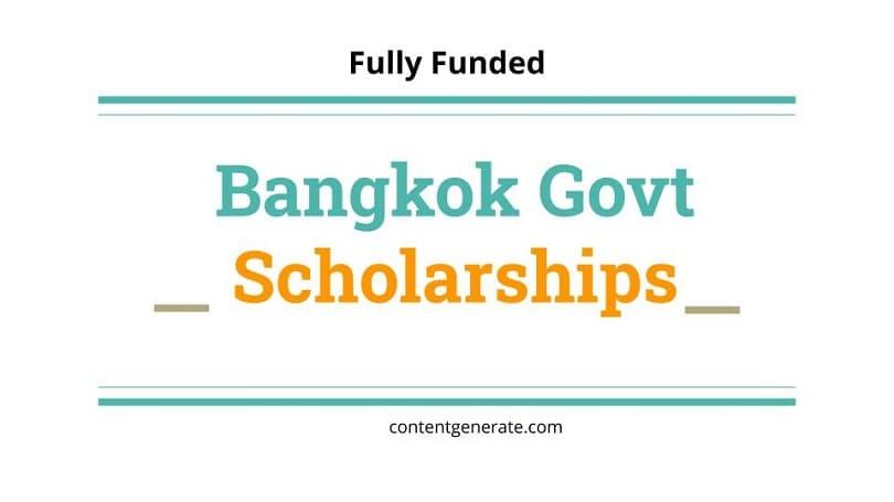 Bangkok Govt Scholarships