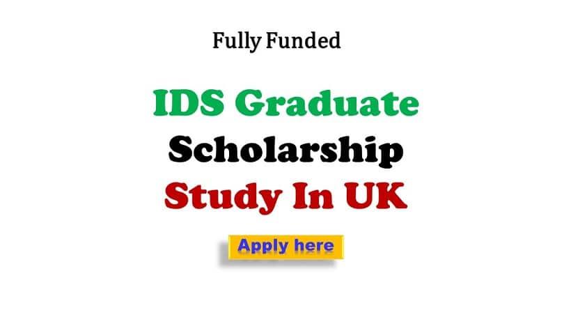 IDS Graduate Scholarship UK