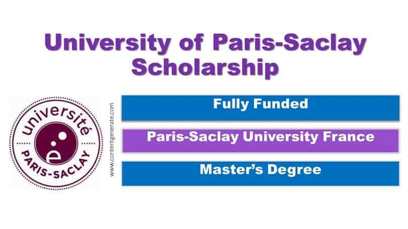 Paris_Saclay University Scholarship