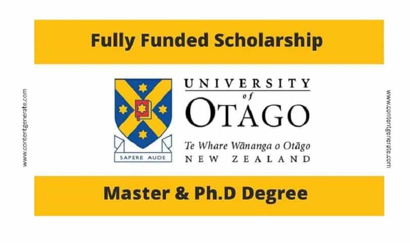 University of Otago Scholarship-Study in New Zealand