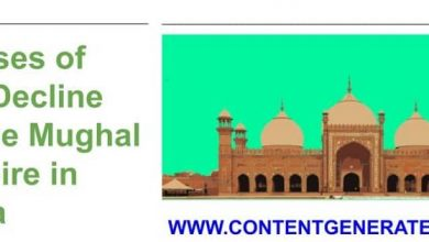 Causes for the Decline of the Mughal Empire in India