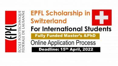 EPFL scholarship SWITZERLAND