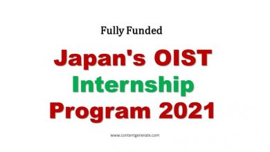 Fully Funded Japan OIST Internship Program