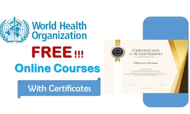 WHO FREE ONLINE COURSES