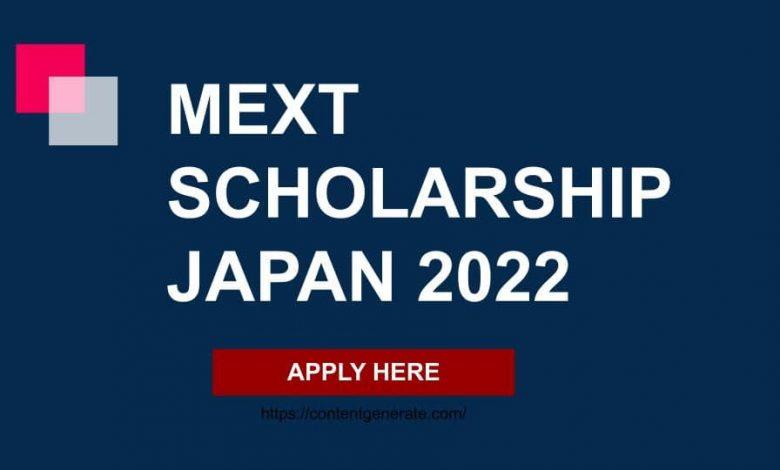MEXT Scholarship Japan-Japanese Government scholarship