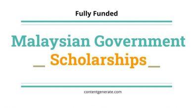 Malaysian Government Scholarships
