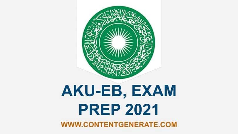 AKU-EB, EXAM PREP 2021
